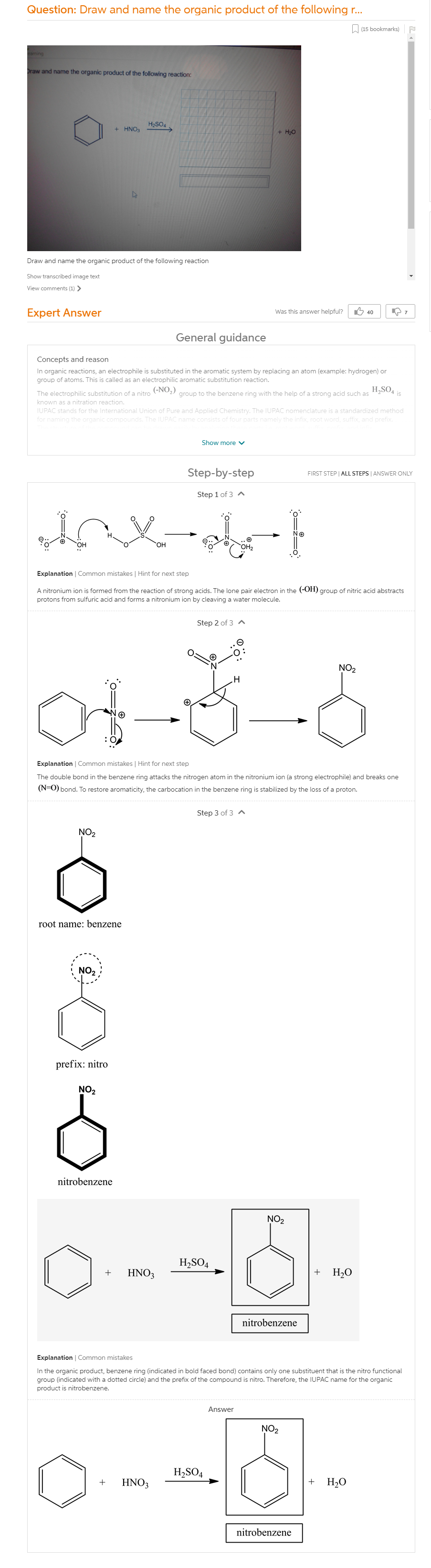 Draw And Name The Organic Product Of The Following Reaction
